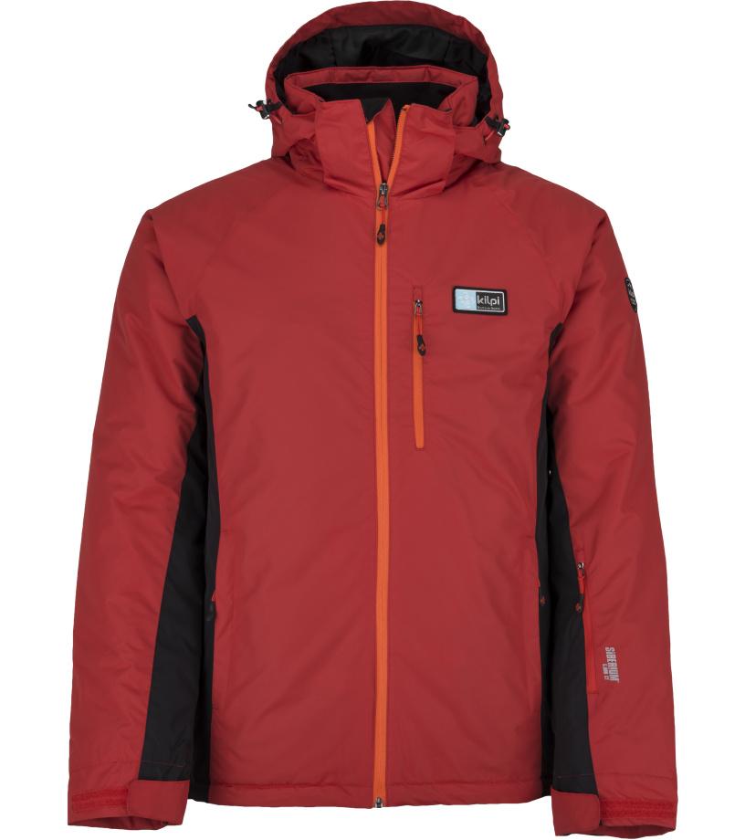 KILPI Pánská lyžařská bunda - větší velikosti CHIP-M JMX077KIRED Červená