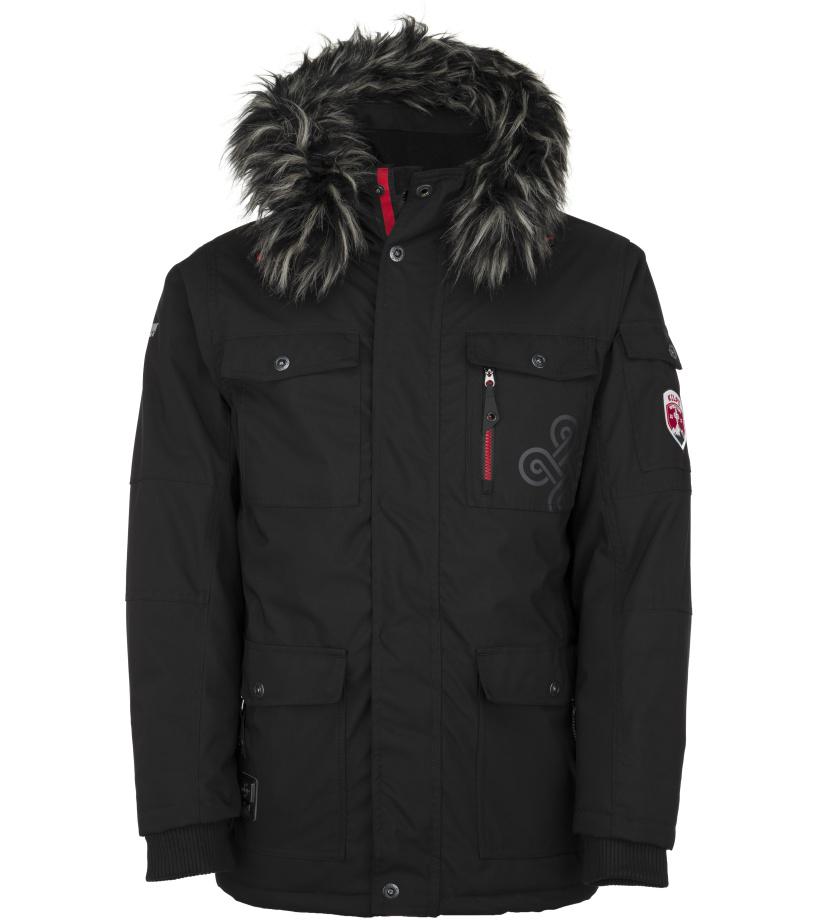 KILPI Pánská zimní bunda - větší velikosti PILOT-M JMX109KIBLK Černá