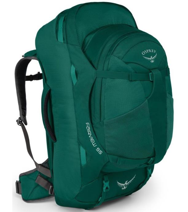 OSPREY Fairview 55 Cestovní taška 2v1 OSP2106044502 rainforest green WS/WM