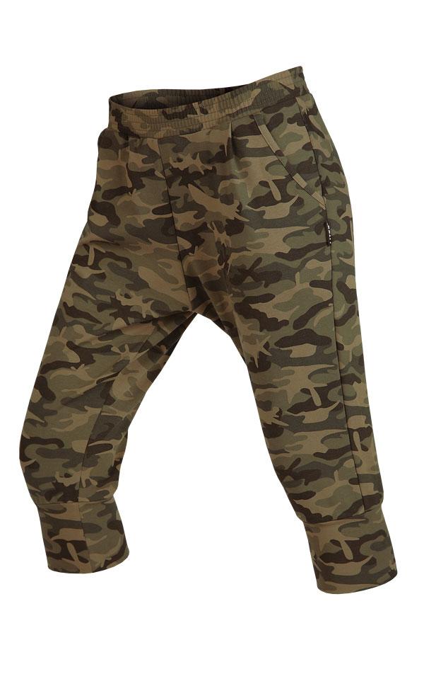LITEX 5A327 Kalhoty dámské 3/4 se snížením sedem tisk M