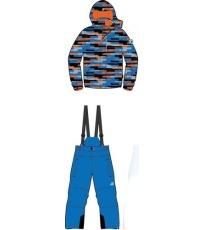ALPINE PRO PIERO 2 Dětský lyžařský set KOTH006653 cobalt blue 140-146