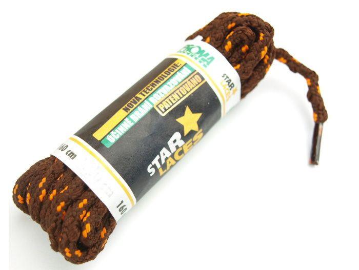 PROMA Tkaničky (šněrovadla) STAR LACES SLIM 123p3811 hnědo-oranžová 160 cm