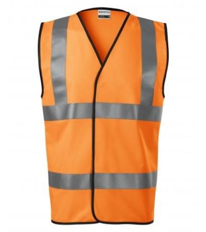 RIMECK HV Bright Bezpečnostní vesta unisex 9V398 Reflexní oranžová