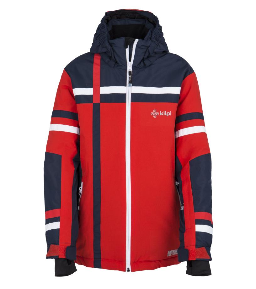 KILPI Chlapecká lyžařská bunda TITAN-JB FJ0002KIRED Červená 110