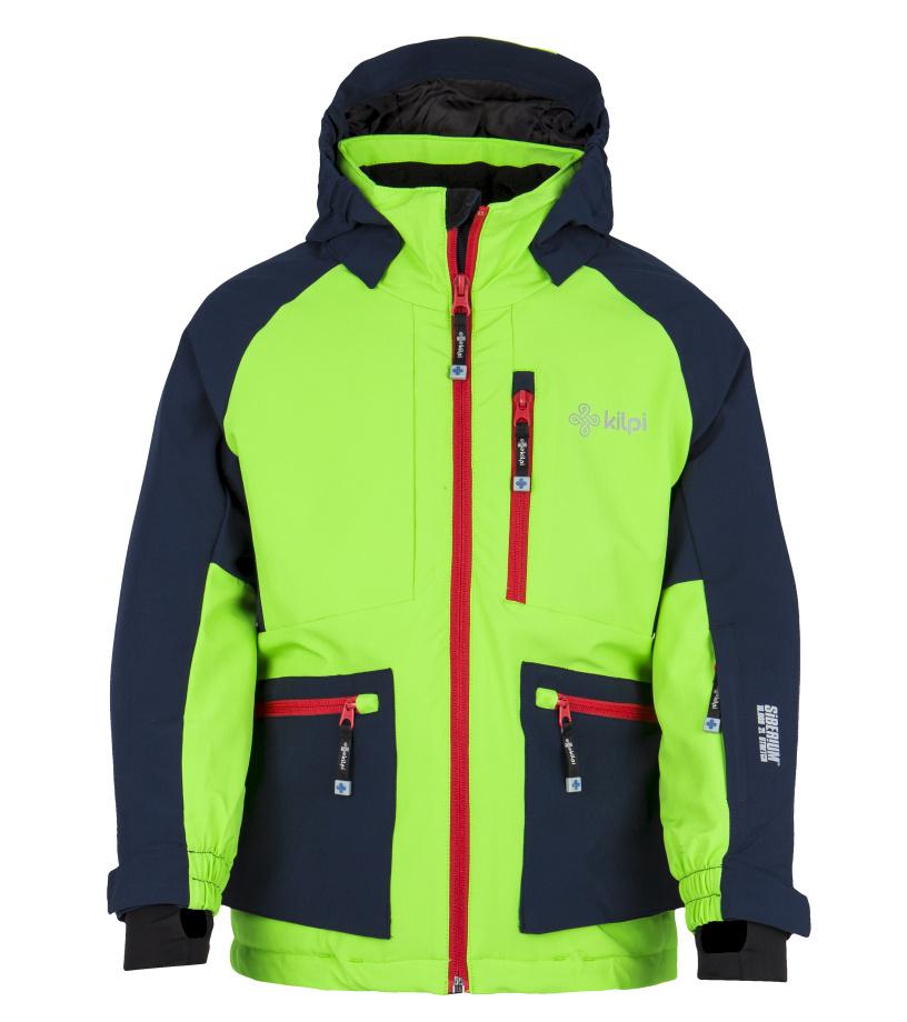 KILPI Chlapecká lyžařská bunda JACKYL-JB FJ0004KILGN Zelená 110