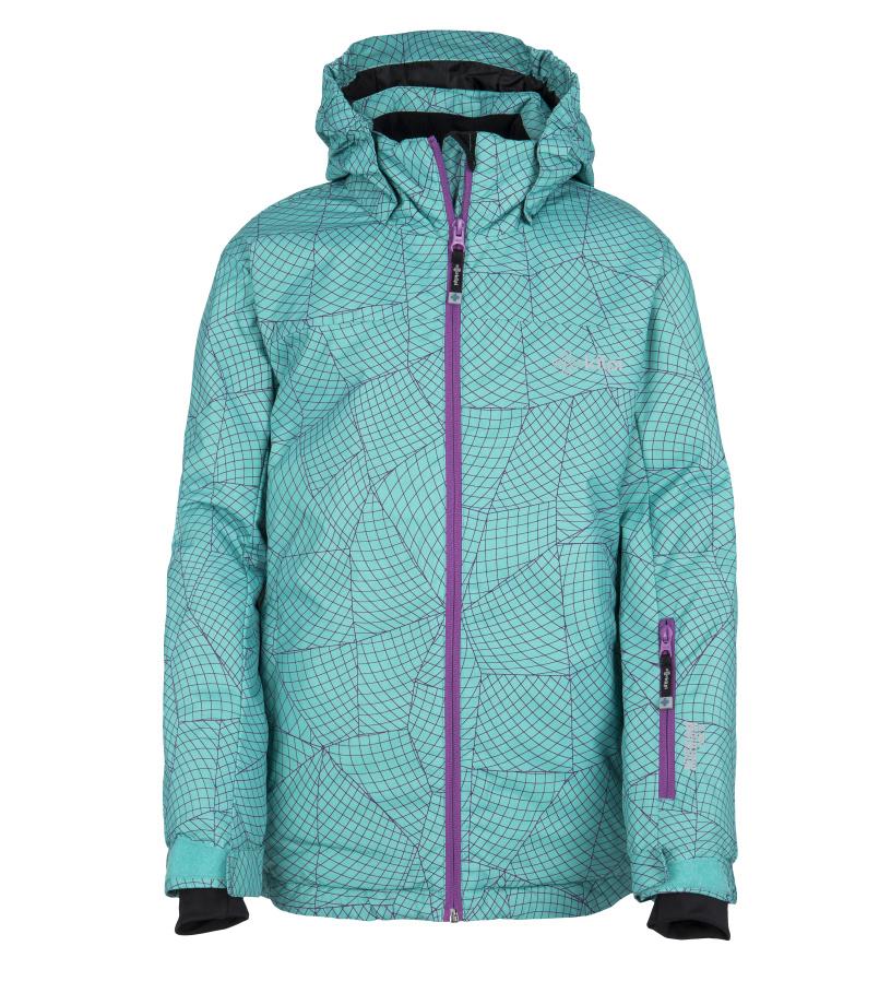 KILPI Dívčí lyžařská bunda GENOVESA-JG FJ0016KITRQ Tyrkysová 110