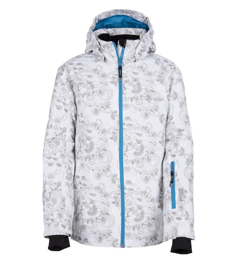 KILPI Dívčí lyžařská bunda GENOVESA-JG FJ0016KIWHT Bílá 110