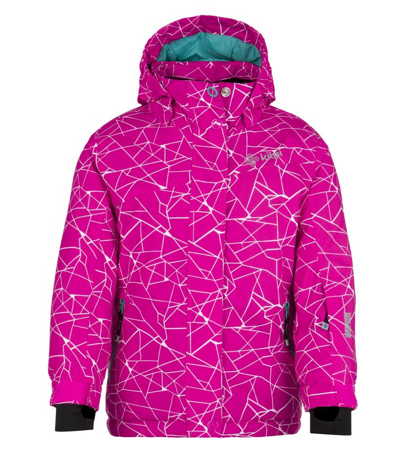 KILPI Dívčí lyžařská bunda NIESKO-JG FJ0018KIPNK Růžová 110