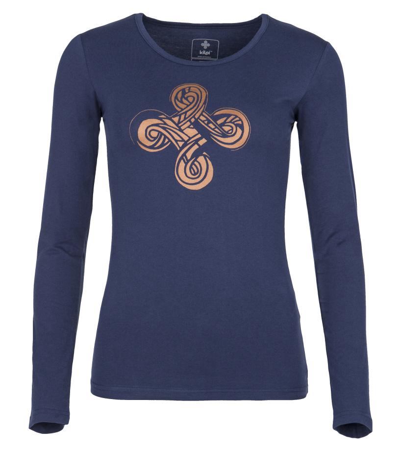 KILPI Dámské triko s dlouhým rukávem KALEVA-W FL0068KIDBL Tmavě modrá 42