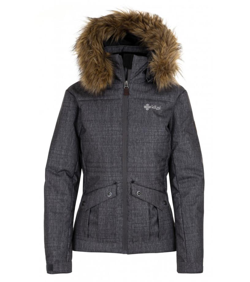 KILPI Dámská zimní bunda NAMIB-W HL0105KIDGY Tmavě šedá