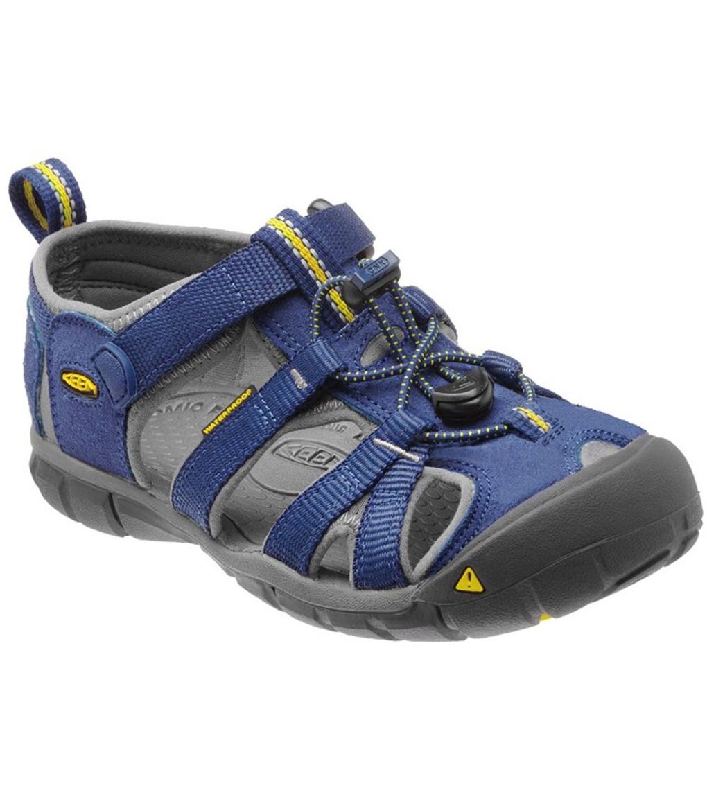 KEEN Seacamp II CNX Jr Dětské sandály KEN1201064001 blue depths/gargoyle 37