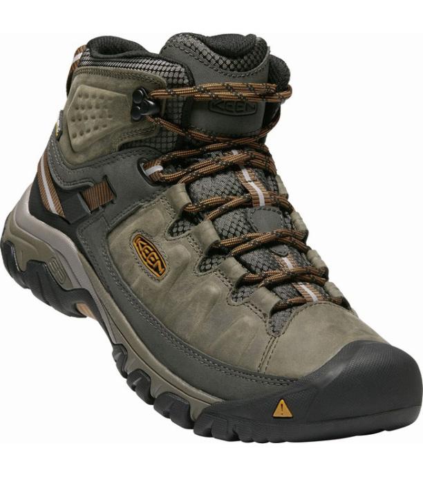 KEEN TARGHEE III MID WP M Pánská vysoká treková obuv KEN1204145902 black olive/golden brown 47