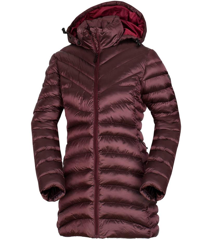 NORTHFINDER VESWA Dámský kabát BU-4845SP378 vínová S
