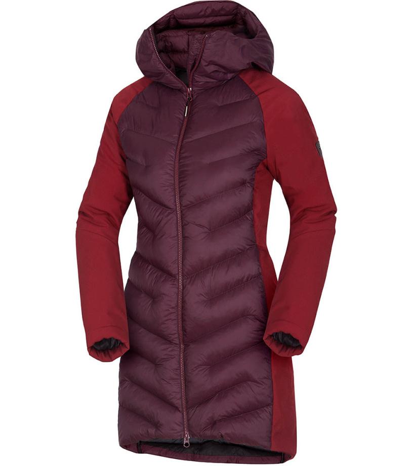 NORTHFINDER VENILA Dámský hybridní kabát BU-4847SP378 vínová S