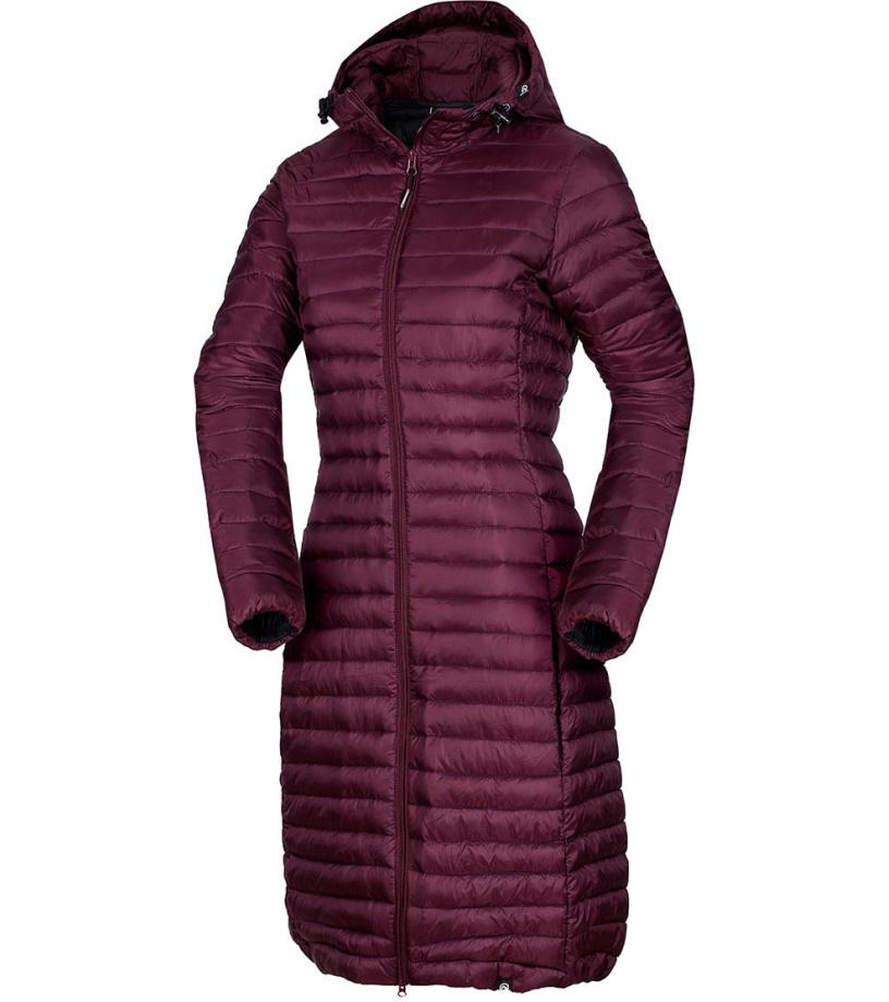 NORTHFINDER VASPA Dámský kabát dlouhý BU-4848SP378 vínová S