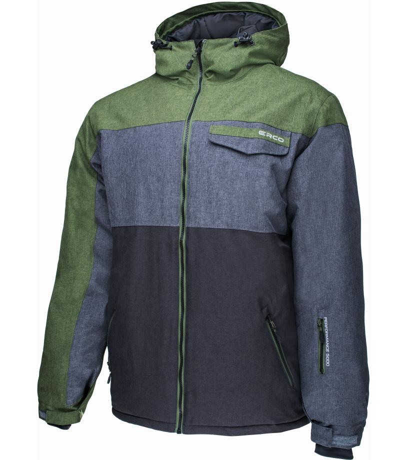 ERCO REMY Pánská lyžařská bunda 17W2030GNM zelená melange M