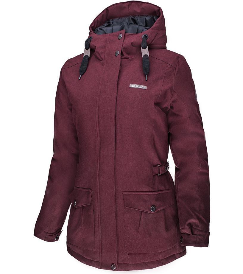 ERCO ALASIA Dámská zimní bunda 17W2033RDW červená melange XXXL