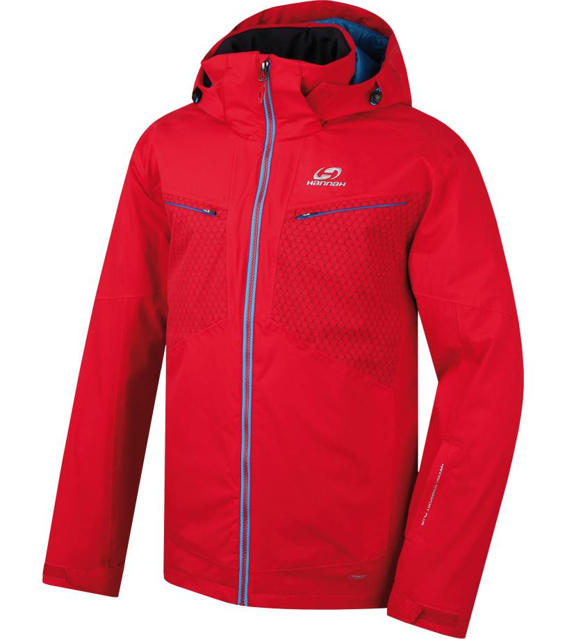 HANNAH GOETZ Pánská lyžařská bunda 217HH0002HJ04 Fiery red L