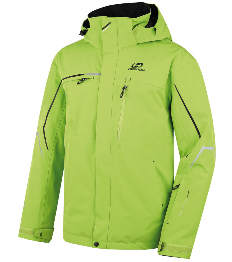 HANNAH MERLIN Pánská lyžařská bunda 217HH0003HJ04 Lime green
