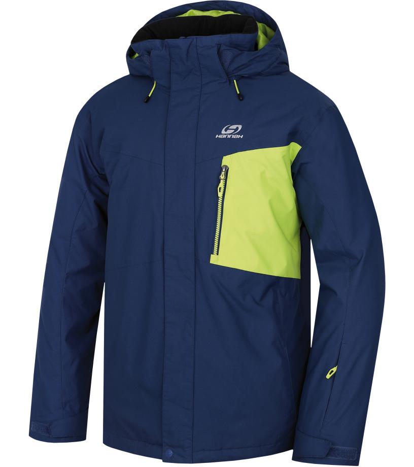 HANNAH Juval Pánská lyžařská bunda 217HH0007HJ05 Dark denim/lime punch XL