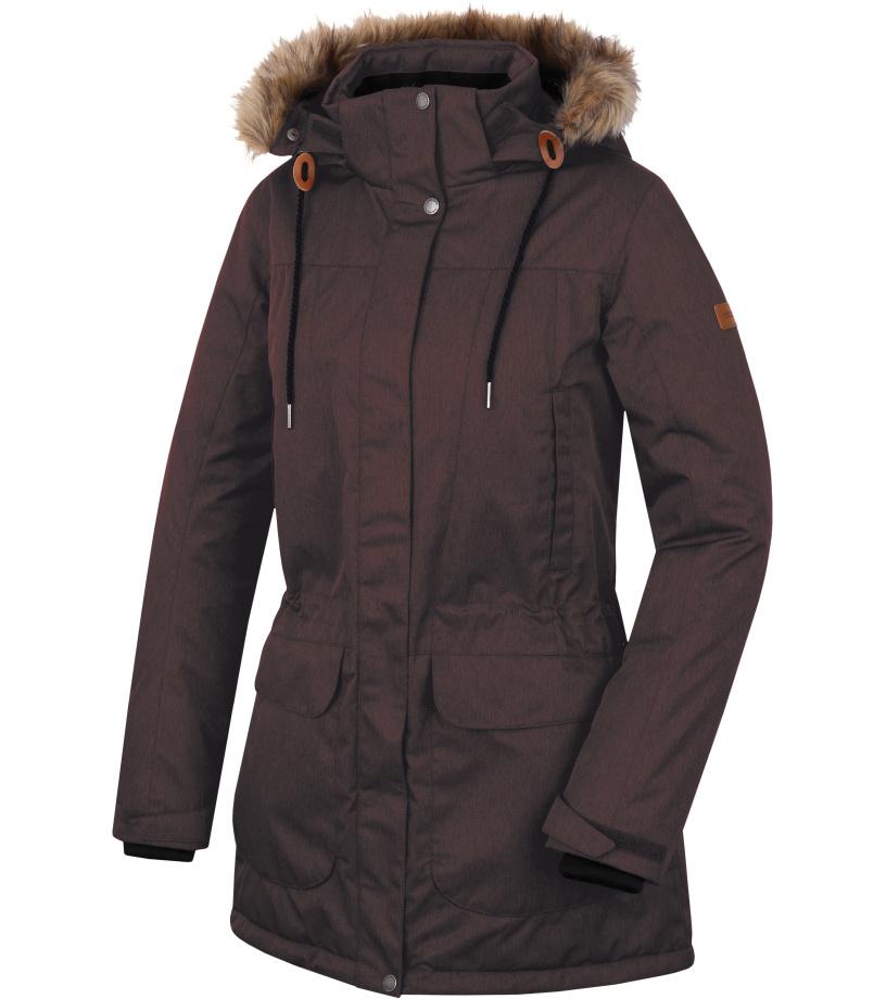 HANNAH Galiano Dámský kabát 217HH0048HJ03 Chocolate mel 36