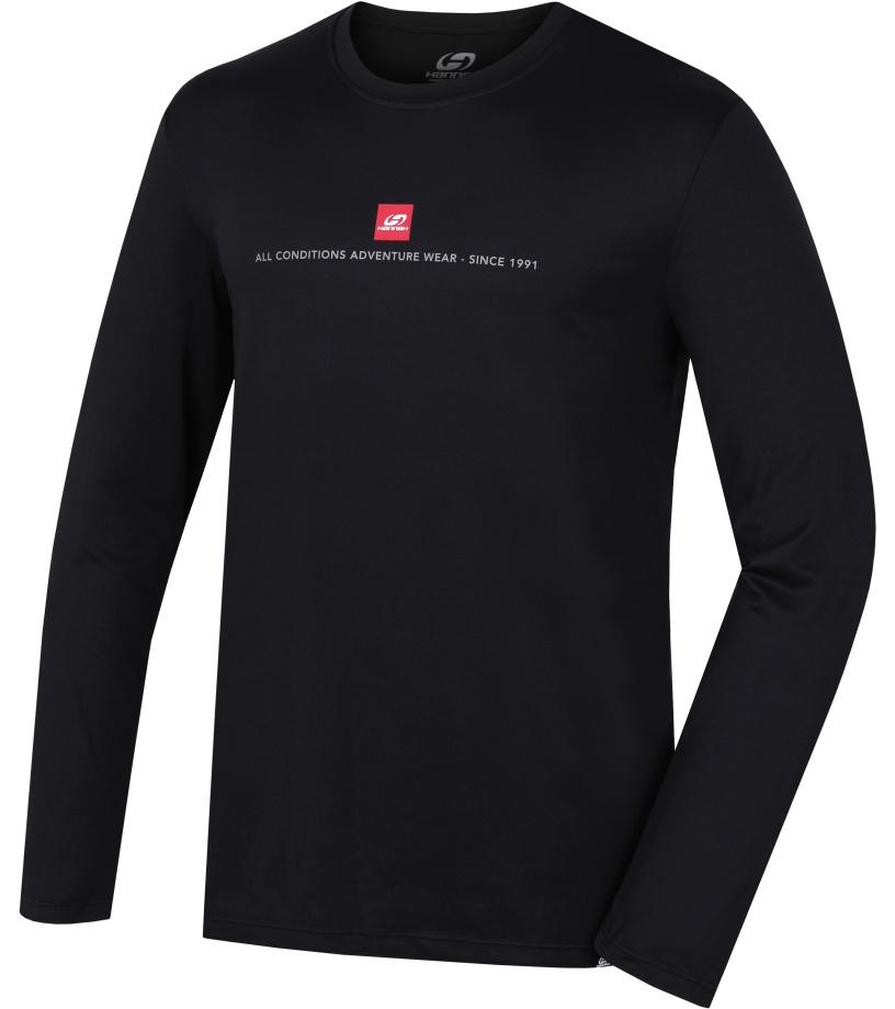 HANNAH Terell Pánské triko dl. rukáv 217HH0079KL02 Anthracite (red)