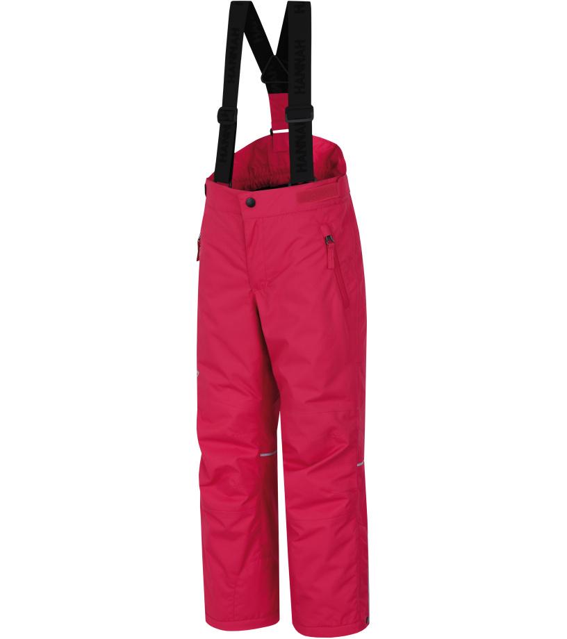 HANNAH Amidala JR II Dětské lyžařské kalhoty 217HH0100HP03 Raspberry sorbet