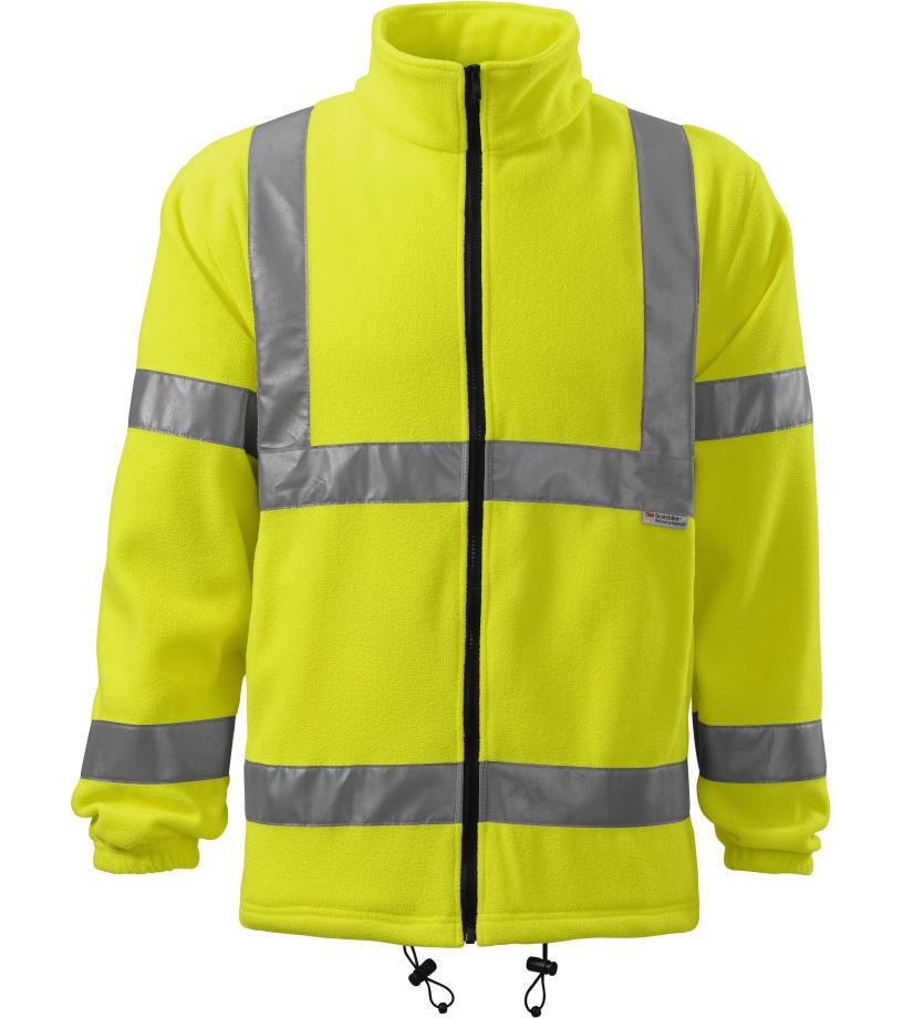 RIMECK Uni fleecová bunda 5V197 reflexní žlutá M