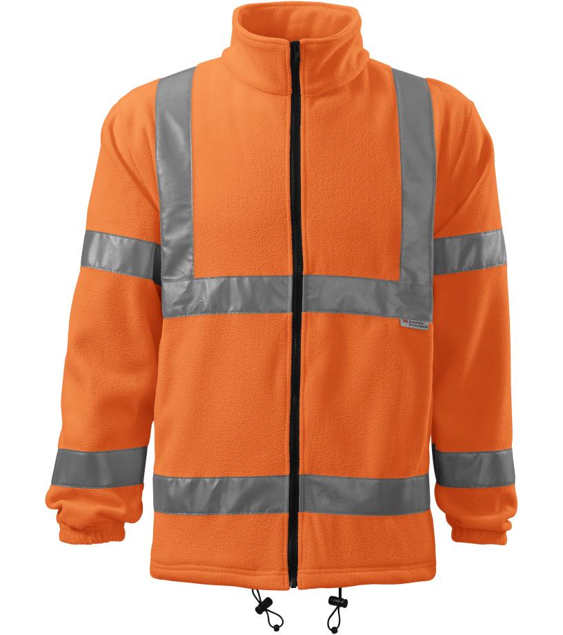 RIMECK Uni fleecová bunda 5V198 reflexní oranžová M