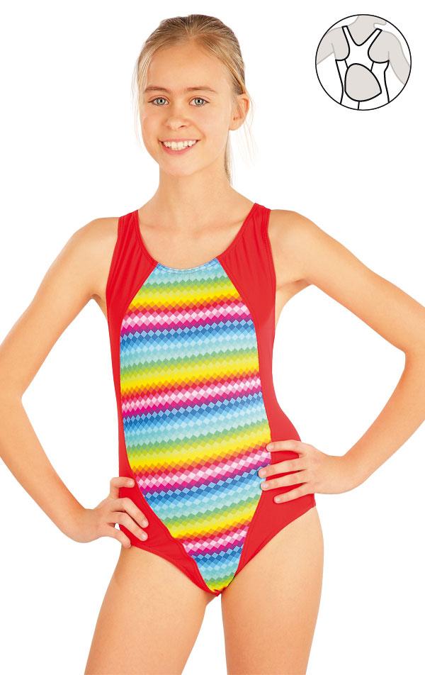d1215135b Dievčenské jednodielne športové plavky. 52612 LITEX - OK Móda