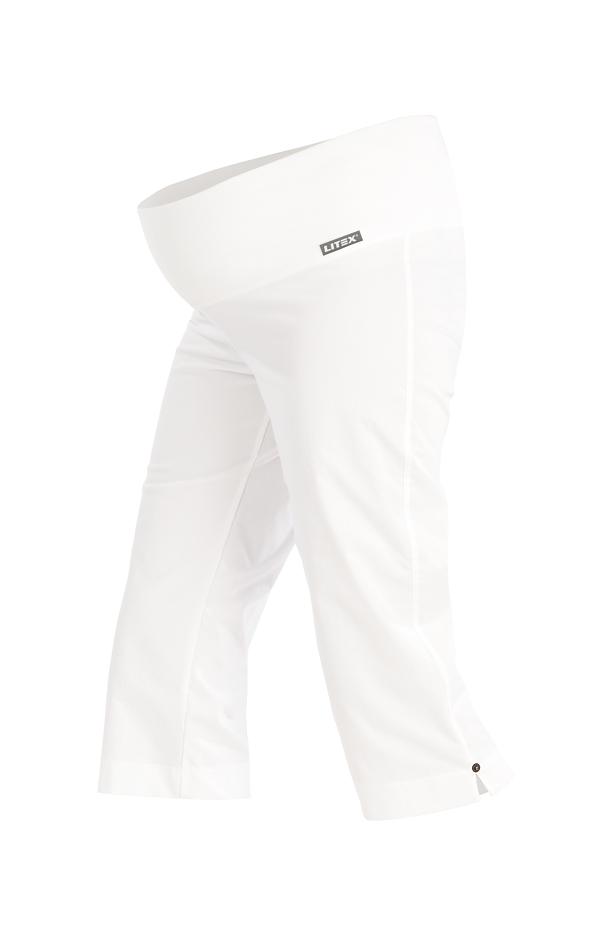 LITEX Kalhoty těhotenské v 3/4 délce. 99527100 Bílá