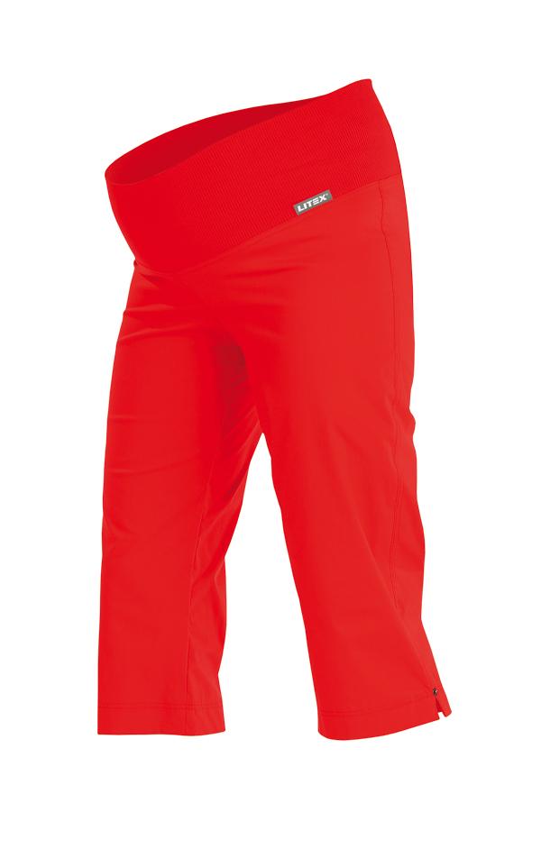 LITEX Kalhoty těhotenské v 3/4 délce. 99527306 červená