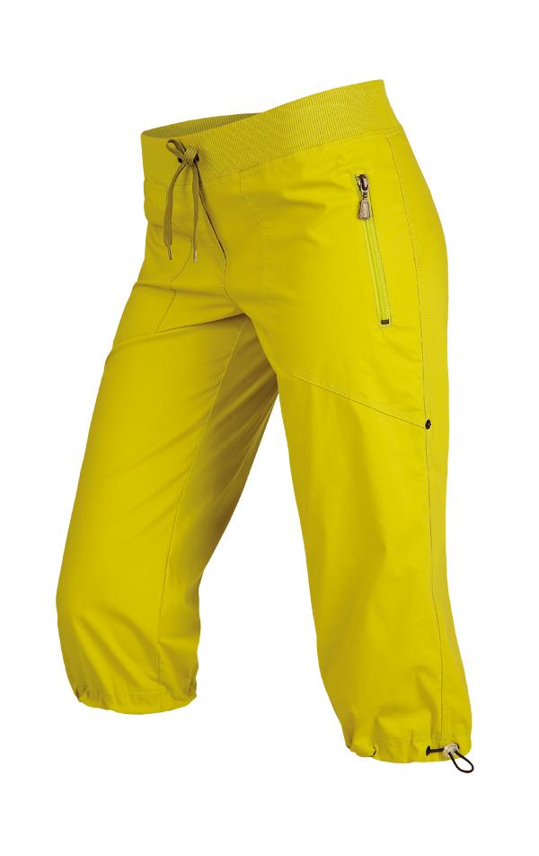 LITEX Kalhoty dámské v 3 4 délce bokové. 99583104 žlutozelená S 31a57033c9