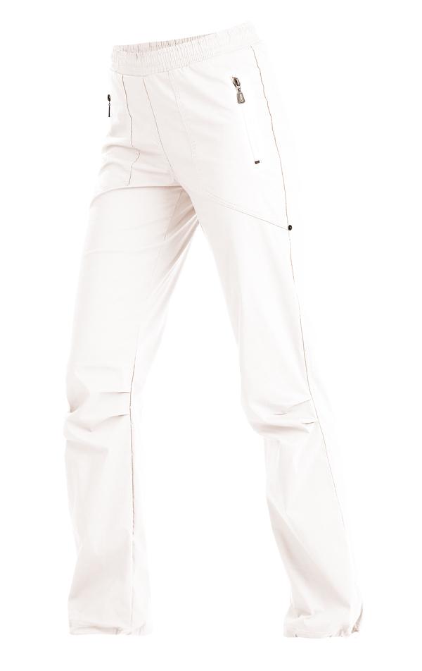LITEX 99585 Kalhoty dámské dlouhé do pasu Bílá S