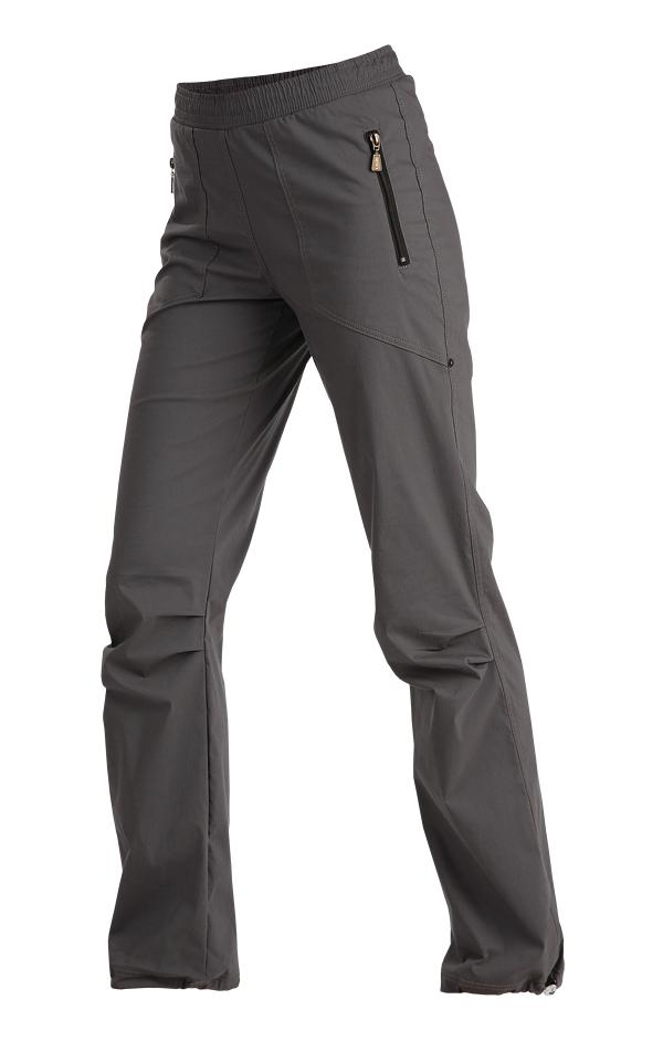 LITEX 99585 Kalhoty dámské dlouhé do pasu tmavě šedá S