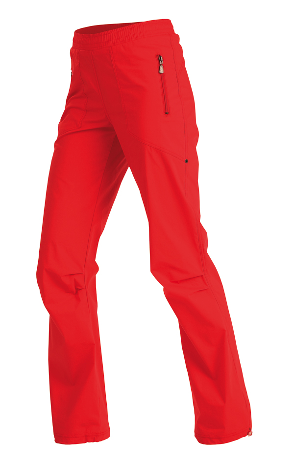 LITEX 99585 Kalhoty dámské dlouhé do pasu červená S