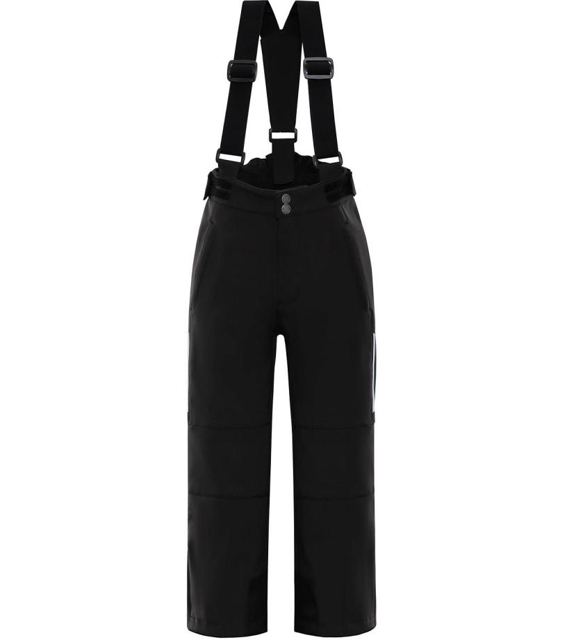 ALPINE PRO NEXO Dětské lyžařské kalhoty KPAM055990 černá 128-134