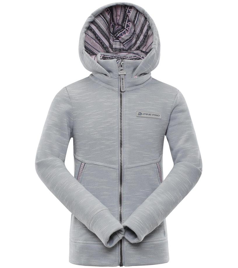 ALPINE PRO YLVO Dětská mikina KSWM075773 šedá
