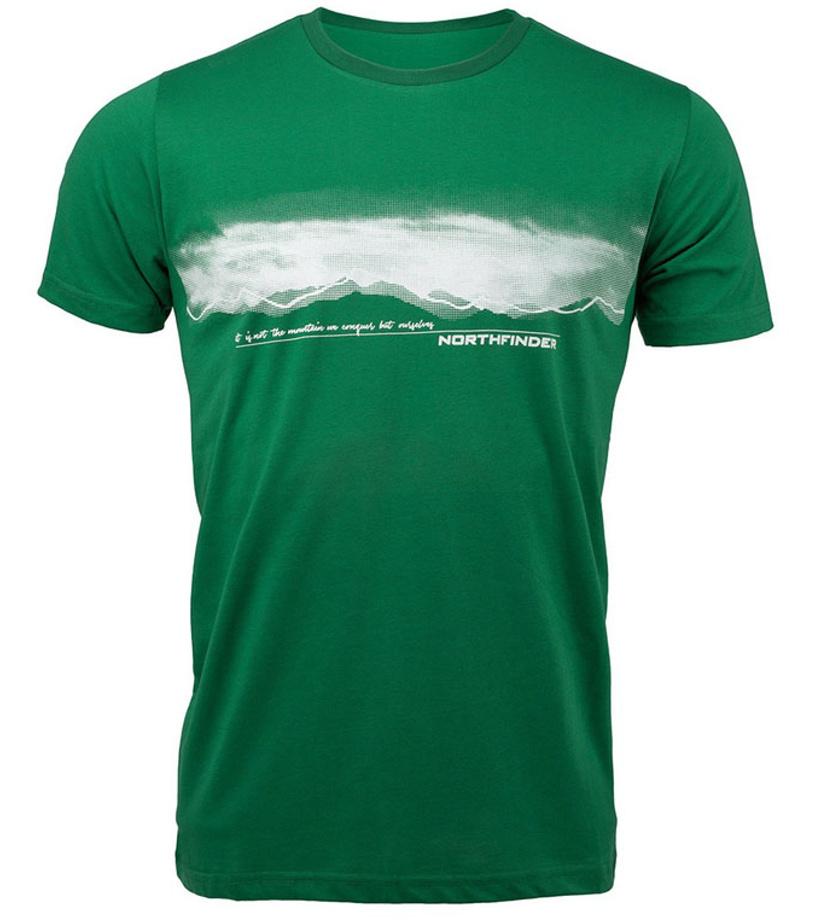 NORTHFINDER JAEDEN Pánské triko TR-3277OR316 zelená