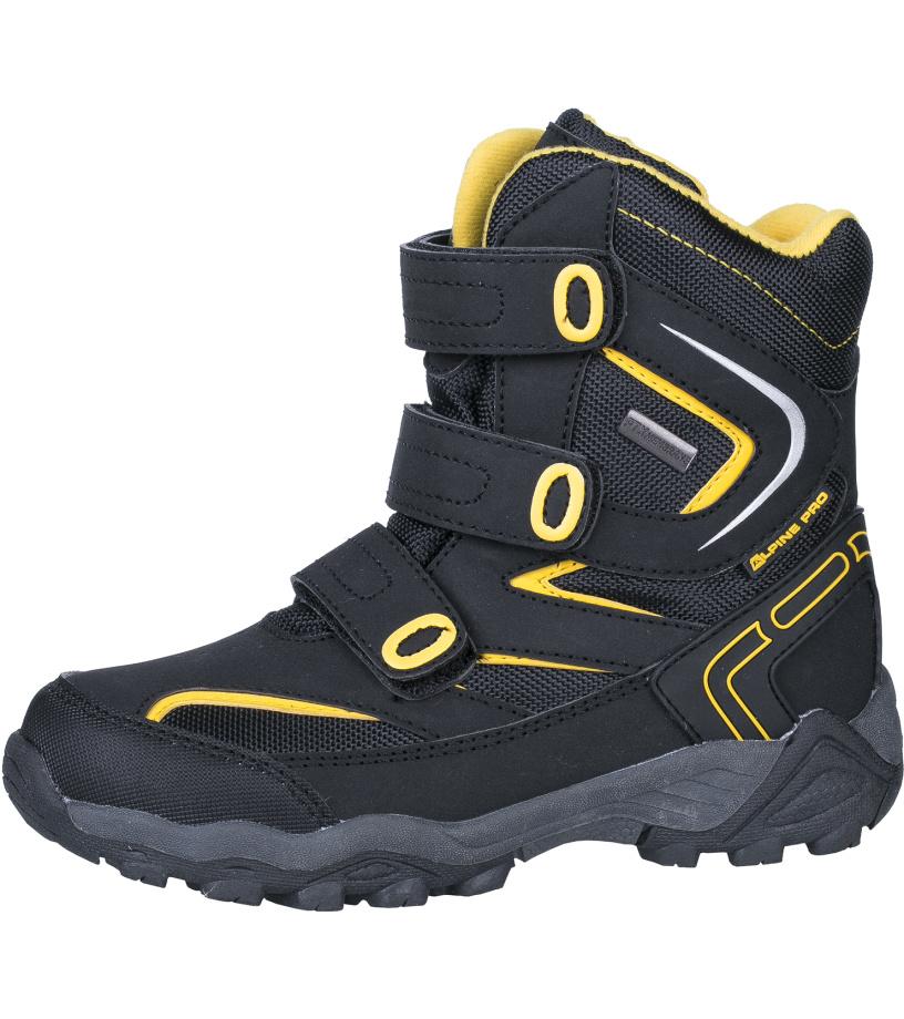 ALPINE PRO DAIRO Dětská zimní obuv KBTH113990 černá 35