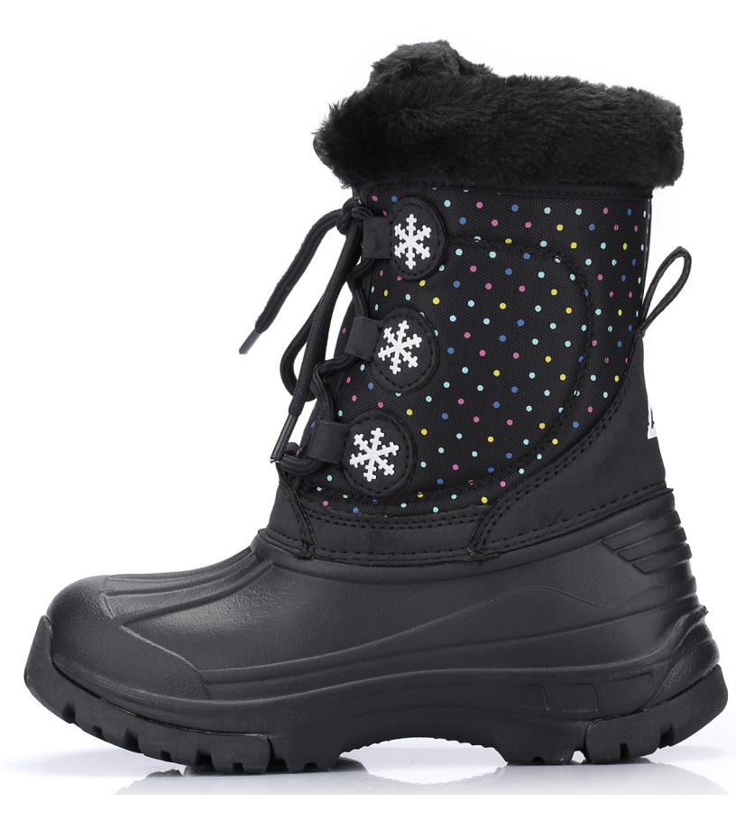 ALPINE PRO TANGGOI Dětská zimní obuv KBTH130990 černá 35