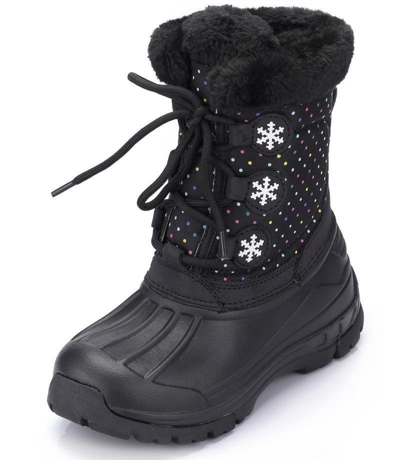 ALPINE PRO TANGGOI Dětská zimní obuv KBTH130990 černá 25