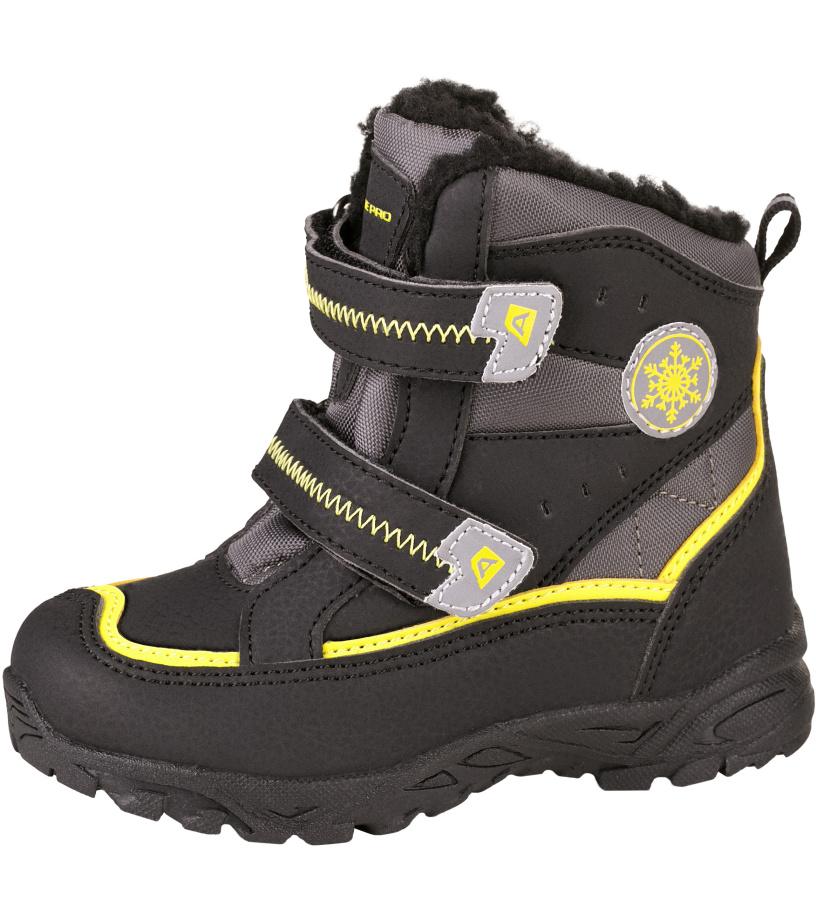 ALPINE PRO KIBBI Dětská zimní obuv KBTH134990 černá 23