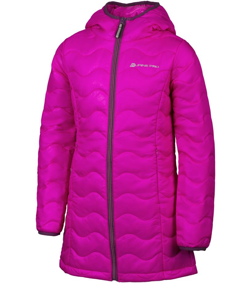 ALPINE PRO ADRIANNO Dětský kabát KCTH001411 fuchsiová 128-134