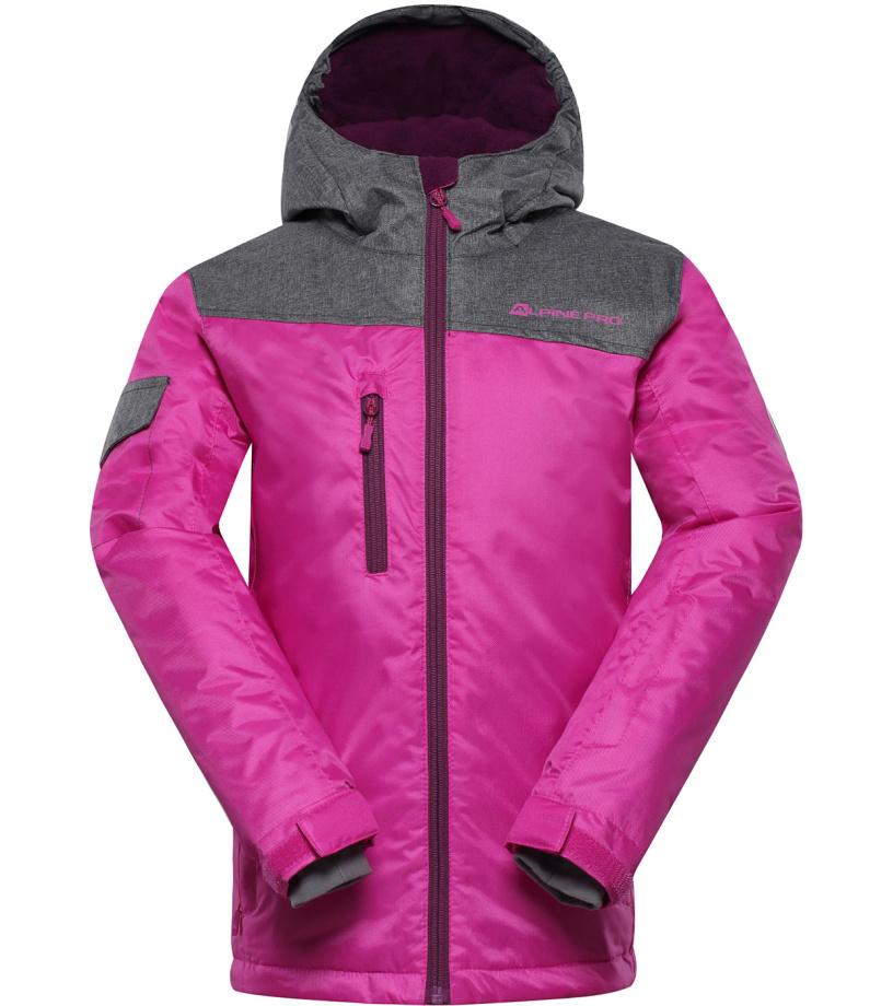 ALPINE PRO CROSSONO Dětská lyžařská bunda KJCH049411 fuchsiová 104-110