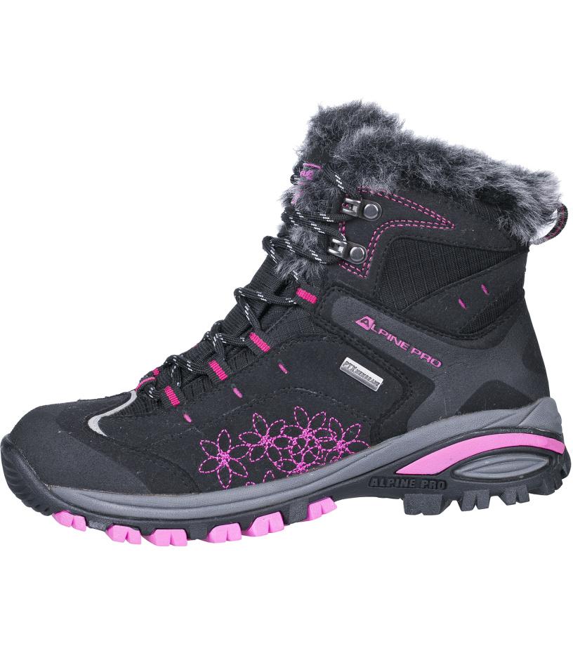 ALPINE PRO BONA Dámská zimní obuv LBTH083990 černá 38