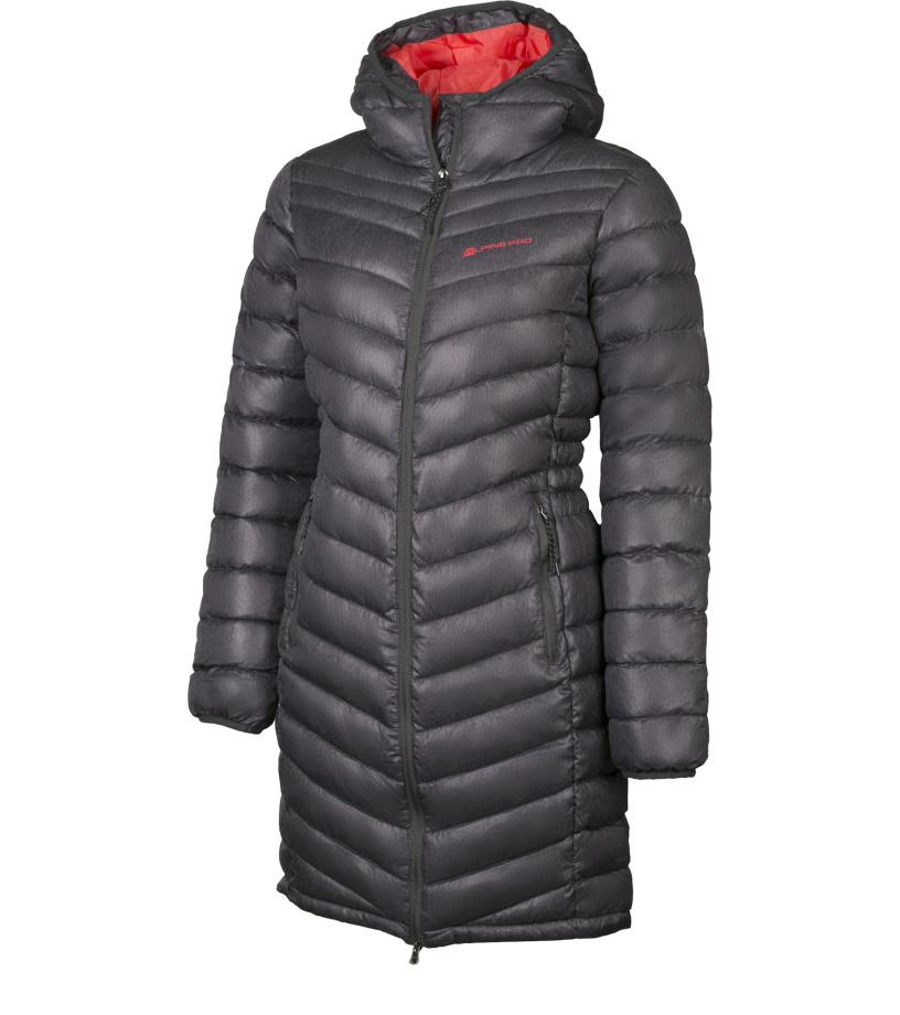 ALPINE PRO ADRIANNA Dámský kabát LCTH019779 tmavě šedá XS