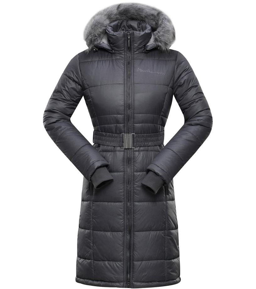 ALPINE PRO THERESE Dámský kabát LCTH020779 tmavě šedá XS