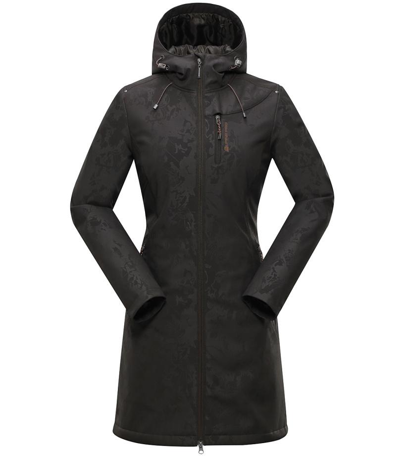 ALPINE PRO ASHERAH 2 INS. Dámský softshellový kabát LCTH022986 černá olivová S