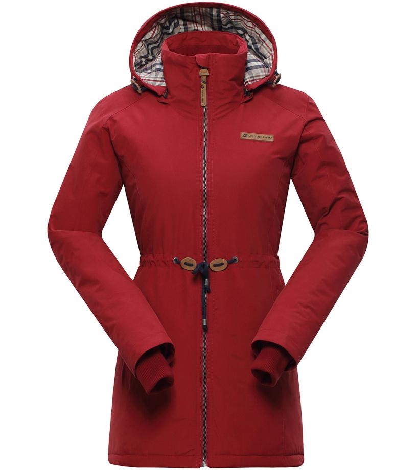 ALPINE PRO EDITE 2 Dámský kabát LCTH024486 rio červená S-L